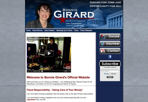 Bonnie Girard for Congress - Virginia\'s 4th District