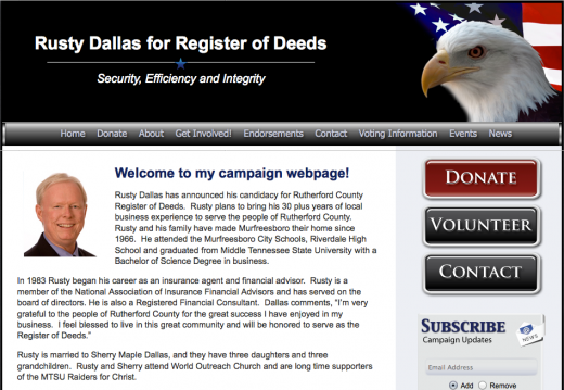 Rusty Dallas for Register of Deeds