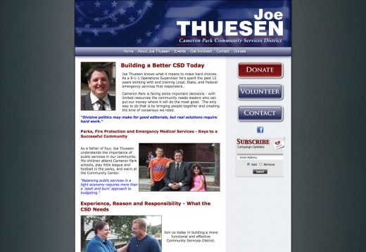 Joe Thuesen for CSD Director