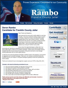 Deron Rambo Candidate for Franklin County Jailer