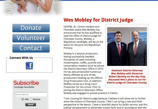 Wes Mobley for District Judge