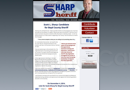 Scott L Sharp for Boyd County Sheriff