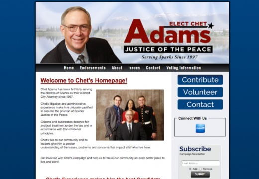 Chet Adams for Sparks Justice of the Peace