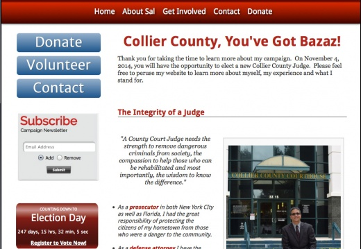 Sal Bazaz For Collier County Judge Seat 4