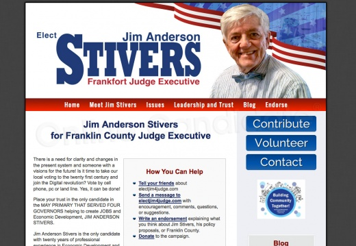 Jim Anderson Stivers for Franklin County Judge Executive