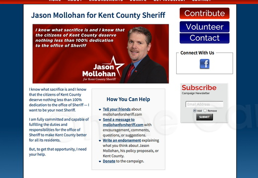 Jason Mollohan for Kent County Sheriff