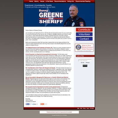 Danny Greene for Greene County Sheriff