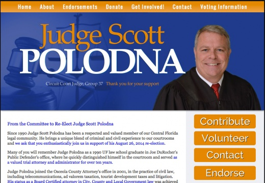 Re Elect Judge Scott Polodna