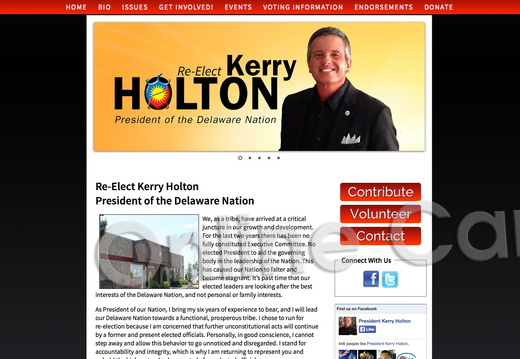 Re Elect Kerry Holton President of the Delaware Nation
