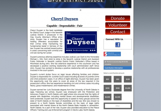 Cheryl Duysen for Judge