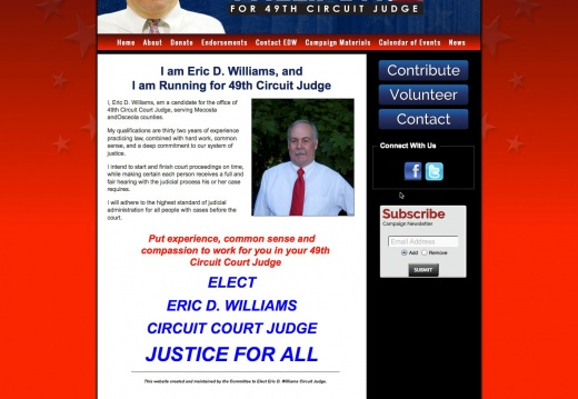 Eric D Williams for Circuit Judge