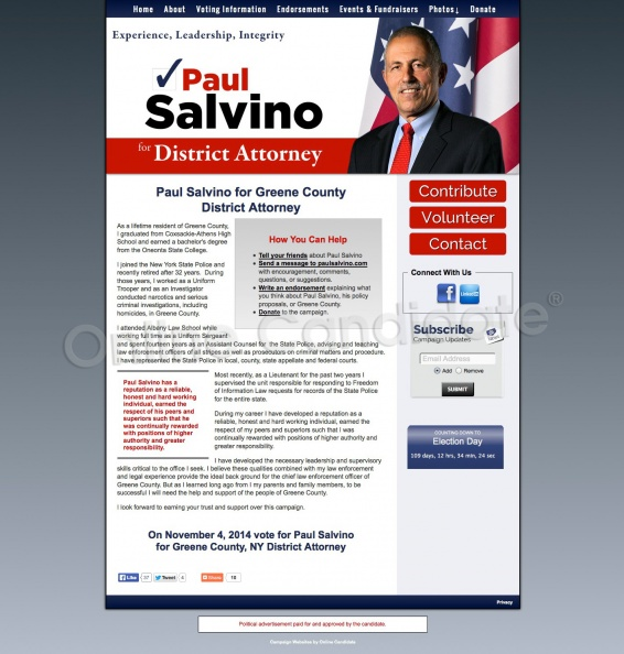 Paul Salvino for Greene County District Attorney | Campaign