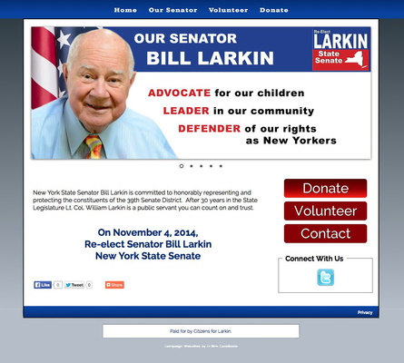 William J Larkin for NY State Senate — 39th Senate District