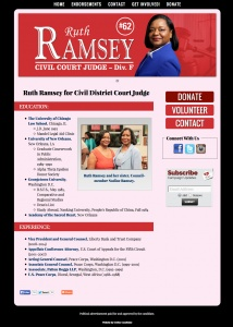 Ruth Ramsey for Civil District Court Judge