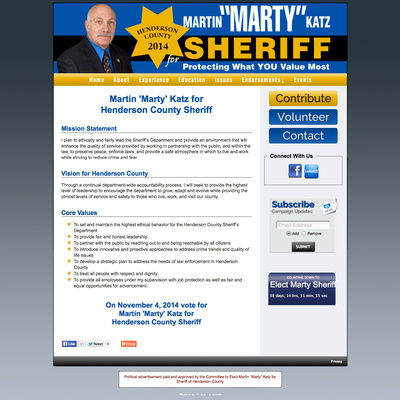 "Martin ""Marty"" Katz for Sheriff of Henderson County"