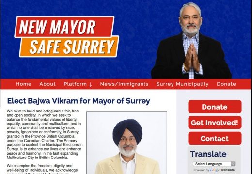 Bajwa Vikram for Mayor of Surrey