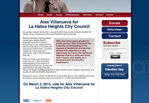 Alex Villanueva for La Habra Heights City Council