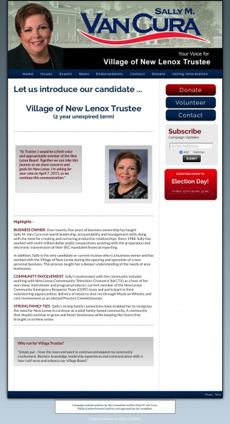 Sally M Van Cura for the Village of New Lenox Trustee.jpg