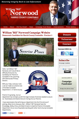 William Norwood for Harris County Constable