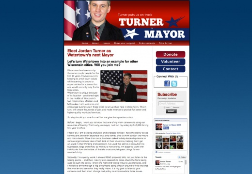 Jordan Turner for Watertown Mayor