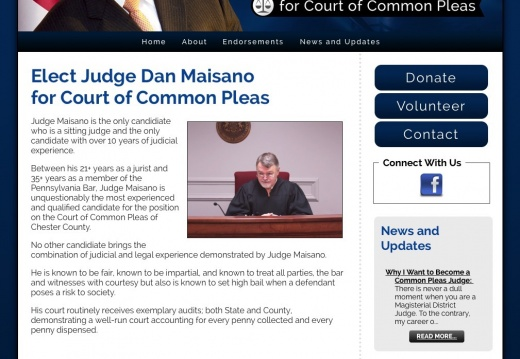 Elect Judge Dan Maisano for Court of Common Pleas