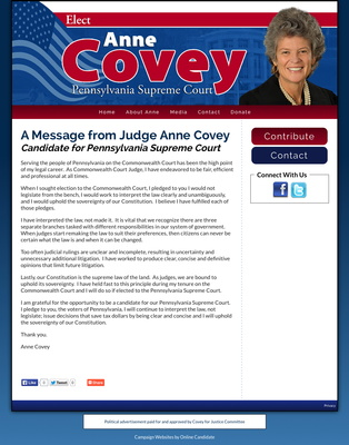 udge Anne Covey Candidate for Pennsylvania Supreme Court