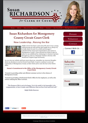 Susan Richardson for Montgomery County Circuit Court Clerk
