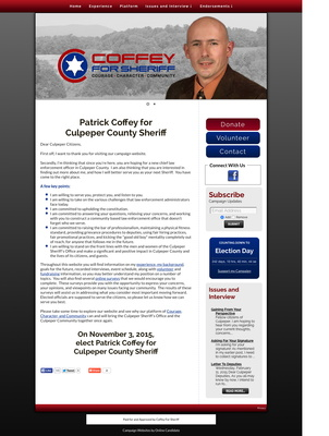 Patrick Coffey for Culpeper County Sheriff