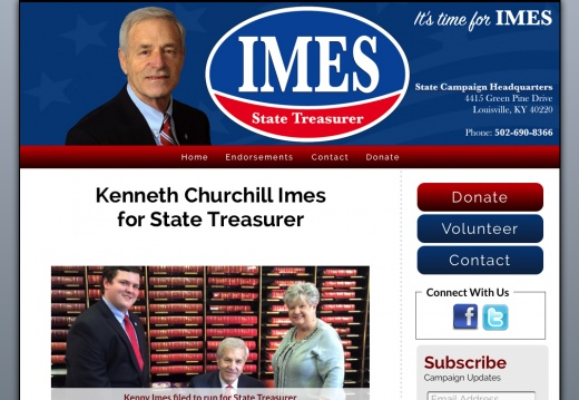 Kenneth Churchill Imes for State Treasurer