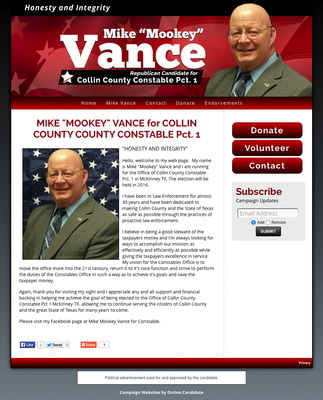 Mike 'Mookey' Vance for Collin County Constable Pct.1