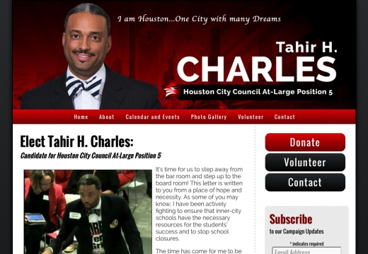 Tahir H. Charles for Houston City Council At-Large Position 5