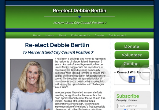 Re-elect Debbie Bertlin Mercer Island City Council Position 7