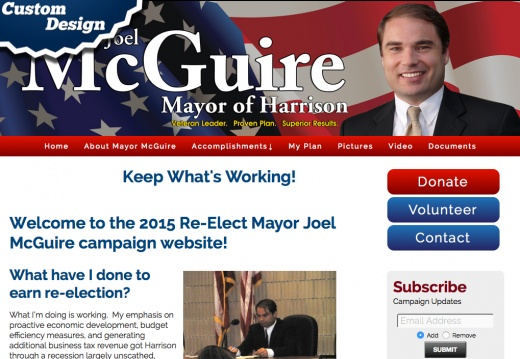 2015 Re-Elect Mayor Joel McGuire campaign website