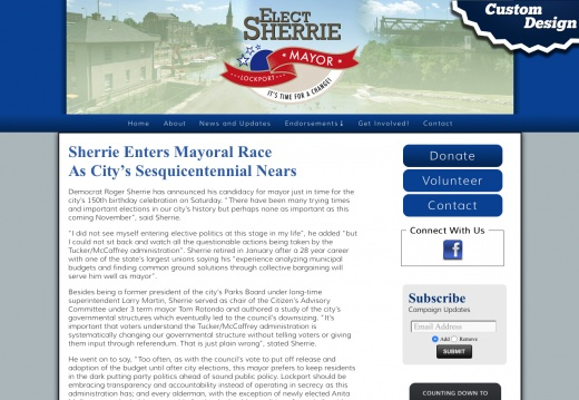 Roger Sherrie for Lockport Mayor