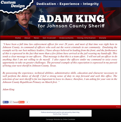 Adam King for Johnson County Sheriff
