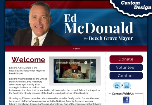 Ed McDonald for Beech Grove Mayor
