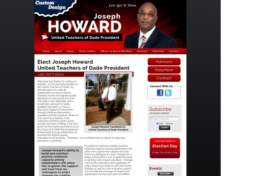 Joseph Howard United Teachers of Dade President