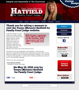 Tonya Mounts Hatfield for Family Court Judge