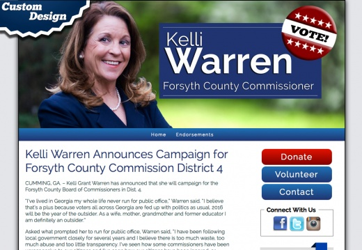 Kelli Warren Announces Campaign for Forsyth County Commission District 4