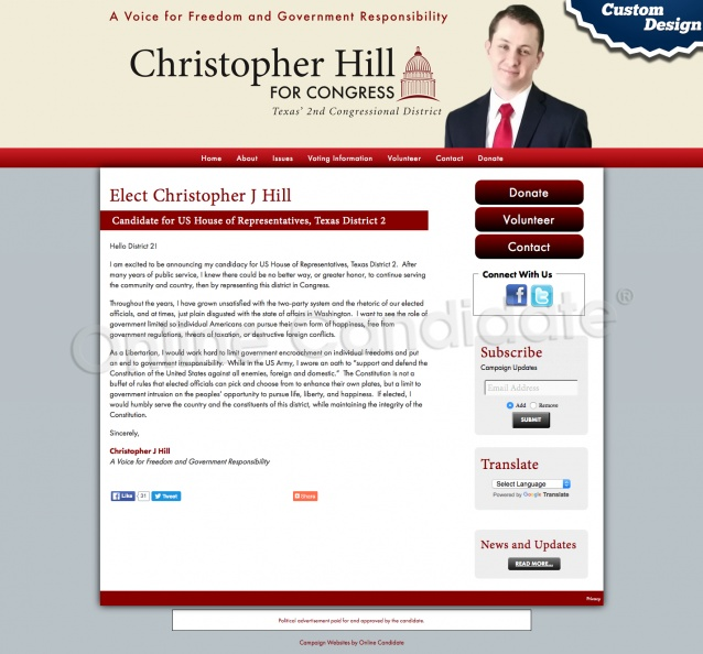 Elect Christopher J Hill Candidate for US House of Representatives, Texas District 2.jpg