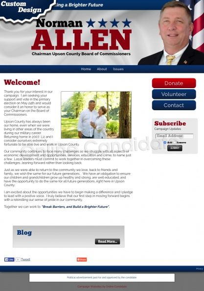 Norman Allen for Chairman Upson County Board of Commissioners.jpg