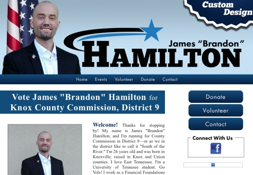 "Vote James ""Brandon"" Hamilton for Knox County Commission, District 9"