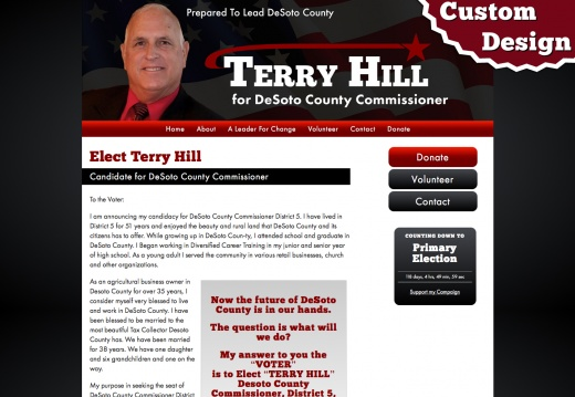 Terry Hill for DeSoto County Commissioner