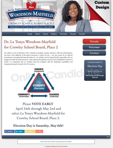 Dr. La Tonya Woodson-Mayfield for Crowley School Board, Place 2.jpg