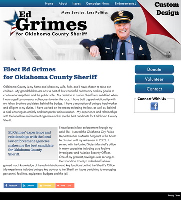 Ed Grimes for Oklahoma County Sheriff