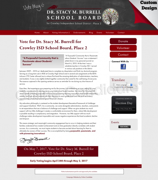 Dr. Stacy M. Burrell for     Crowley ISD School Board, Place 2.jpg