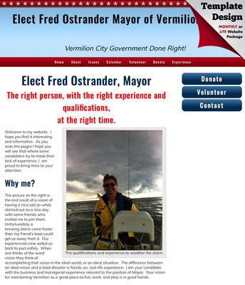 Elect Fred Ostrander Mayor of Vermilion