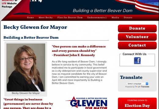 Becky Glewen for Mayor