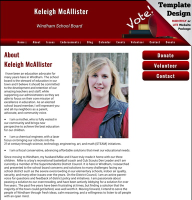 Keleigh McAllister for Windham School Board