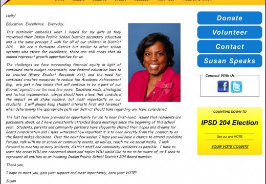Susan Taylor-Demming Indian Prairie School District 204 Board